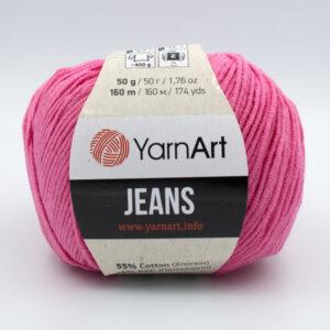 Пряжа YarnArt Jeans 42 розовый
