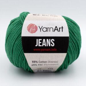 Пряжа YarnArt Jeans 52 зеленый