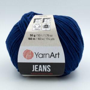 Пряжа YarnArt Jeans 54 темно-синий