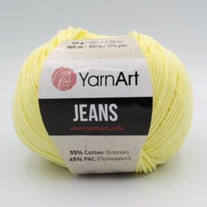 Пряжа YarnArt Jeans 67 светло-желтый