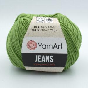 Пряжа YarnArt Jeans 69 зеленый