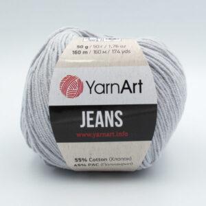 Пряжа YarnArt Jeans 80 светло-серый