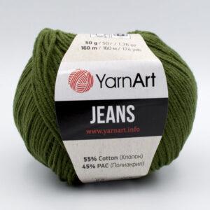 Пряжа YarnArt Jeans 82 хаки