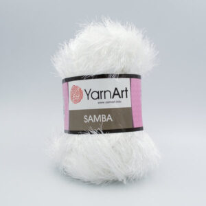 Пряжа Травка YarnArt Samba 01 белый