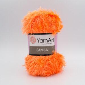 Пряжа Травка YarnArt Samba 07 оранжевый неон