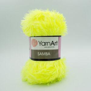 Пряжа Травка YarnArt Samba 2052 желтый неон