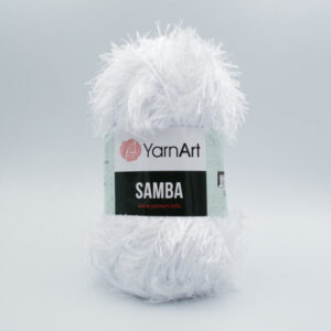 Пряжа Травка YarnArt Samba 501 белоснежный