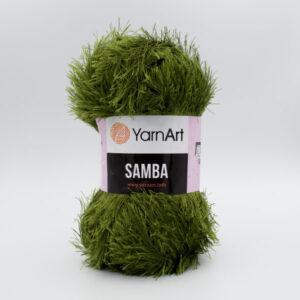 Пряжа Травка YarnArt Samba 530 темно-оливковый