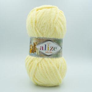 Пряжа плюшевая Alize Softy Plus 13 пастельный желтый