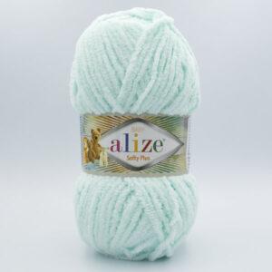 Пряжа плюшевая Alize Softy Plus 15 мята