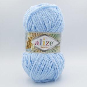 Пряжа плюшевая Alize Softy Plus 183 светло-голубой