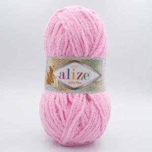Пряжа плюшевая Alize Softy Plus 185 розовый