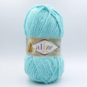Пряжа плюшевая Alize Softy Plus 263 бирюза