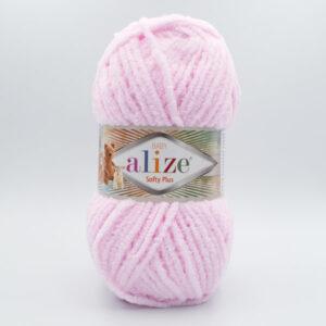 Пряжа плюшевая Alize Softy Plus 31 нежно-розовый