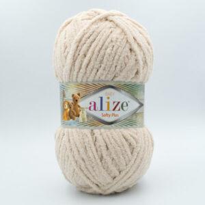 Пряжа плюшевая Alize Softy Plus 310 бежевый
