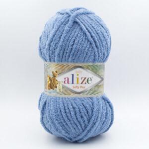Пряжа плюшевая Alize Softy Plus 374 джинсовый