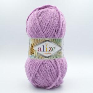 Пряжа плюшевая Alize Softy Plus 47 сиреневый