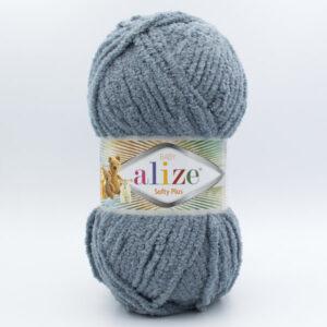 Пряжа плюшевая Alize Softy Plus 87 серый