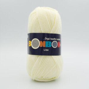 Пряжа Nako Bonbon Lisa 98223 молочный