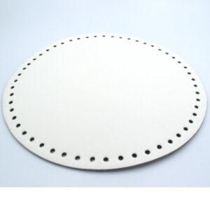 Донышко для сумки круглое экокожа d 22 см белый