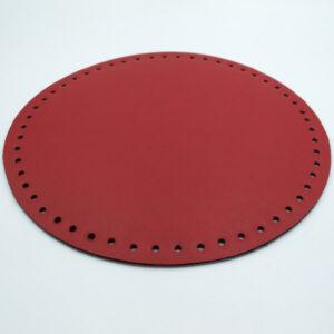 Донышко для сумки круглое экокожа d 22 см красный
