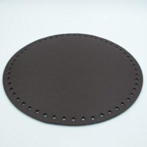 Донышко для сумки круглое экокожа d 22 см шоколад