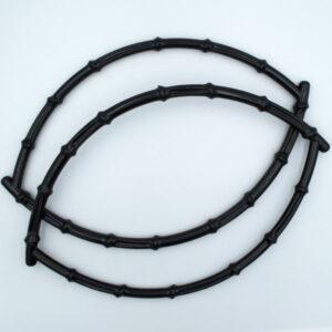 Комплект ручек пластиковых Глаз 27.5×17.5 см черные