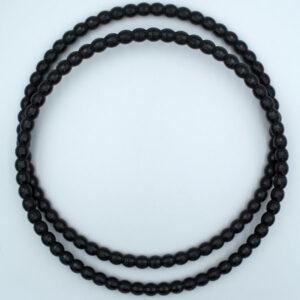 Комплект ручек пластиковых круглых Бусинки 22.5 см черные