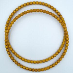 Комплект ручек пластиковых круглых Бусинки 22.5 см охра