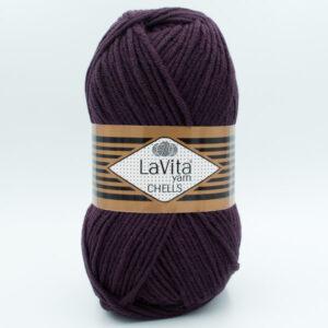 Пряжа LaVita Chells 0741 темный баклажан