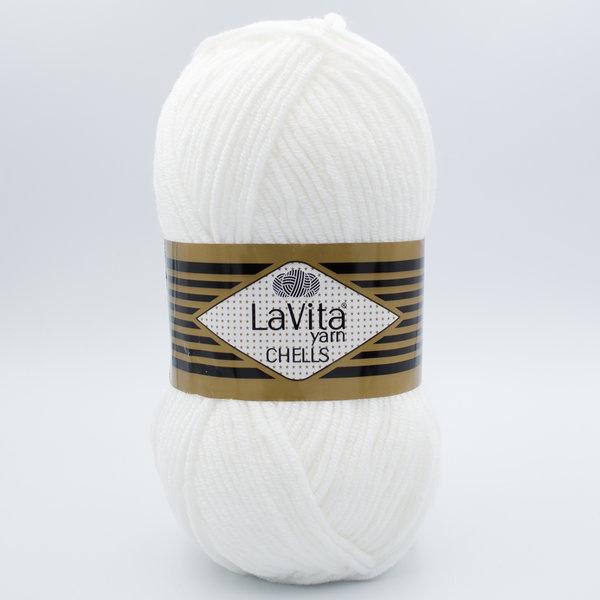 Пряжа LaVita Chells 9501 белый