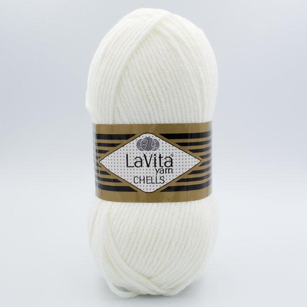 Пряжа LaVita Chells 9502 молочный