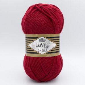 Пряжа LaVita Chells 9568 темно-красный