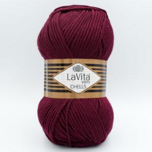 Пряжа LaVita Chells 9572 темно-вишневый