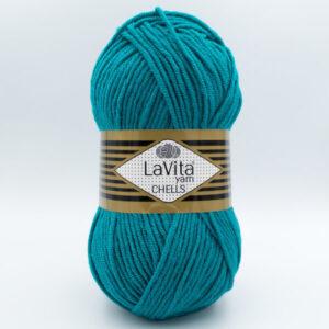 Пряжа LaVita Chells 9606 зеленая бирюза