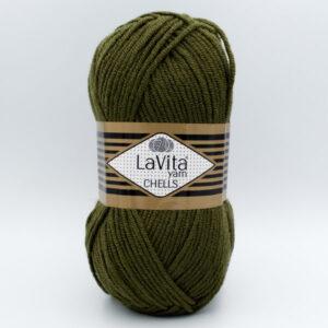 Пряжа LaVita Chells 9616 хаки