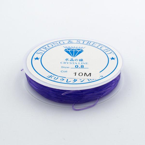Леска-резинка фиолетовая 0.8 мм