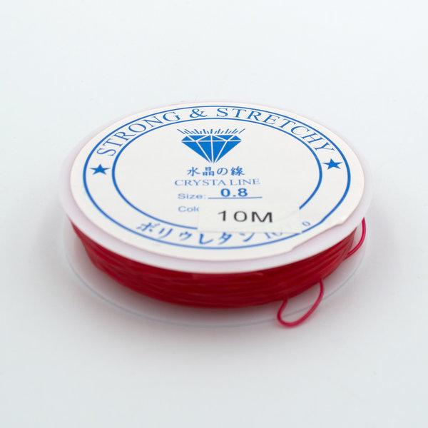 Леска-резинка красная 0.8 мм