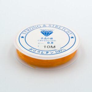 Леска-резинка оранжевая 0.8 мм