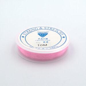Леска-резинка светло-розовая 0.8 мм