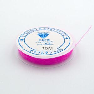 Леска-резинка ярко-розовая 0.8 мм