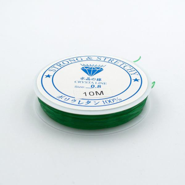 Леска-резинка зеленая 0.8 мм