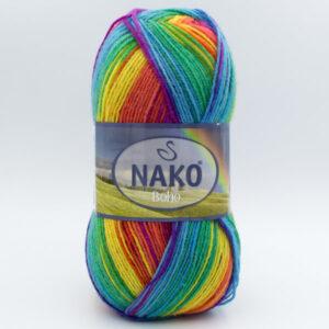 Пряжа Nako Boho 82443 Rainbow
