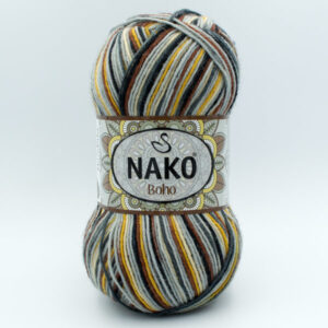Пряжа Nako Boho 82453 Grey Mandala