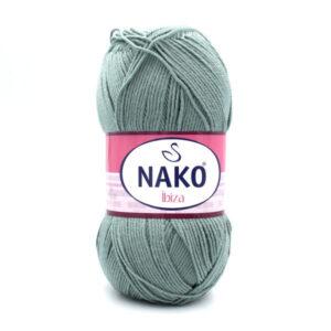 Пряжа Nako Ibiza 10937 серо-зеленый