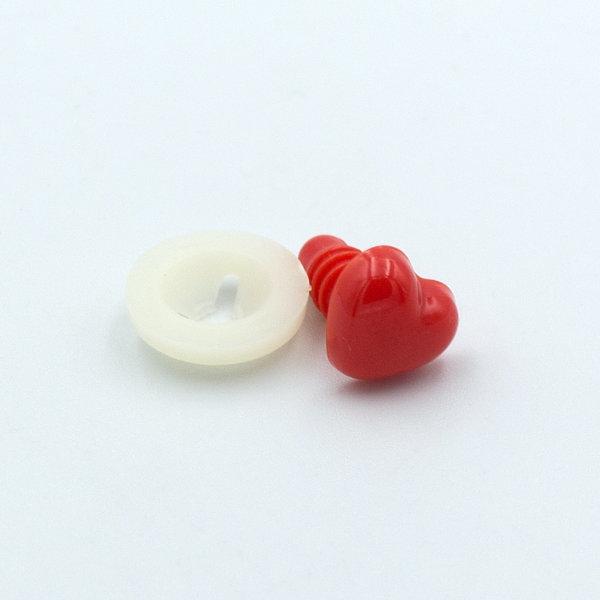 Нос для игрушек Сердце красное 10 мм