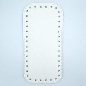 Донышко для сумки прямоугольное экокожа 12х25 белое