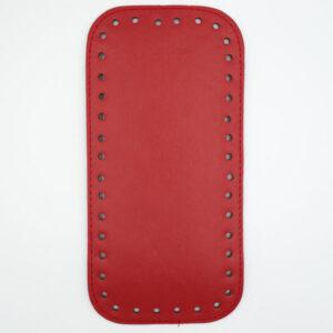 Донышко для сумки прямоугольное экокожа 12х25 красное