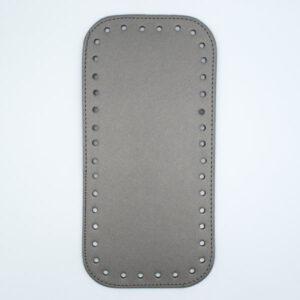 Донышко для сумки прямоугольное экокожа 12х25 металлик