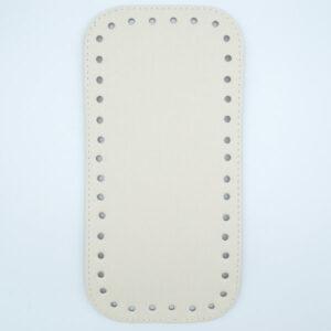 Донышко для сумки прямоугольное экокожа 12х25 молочное